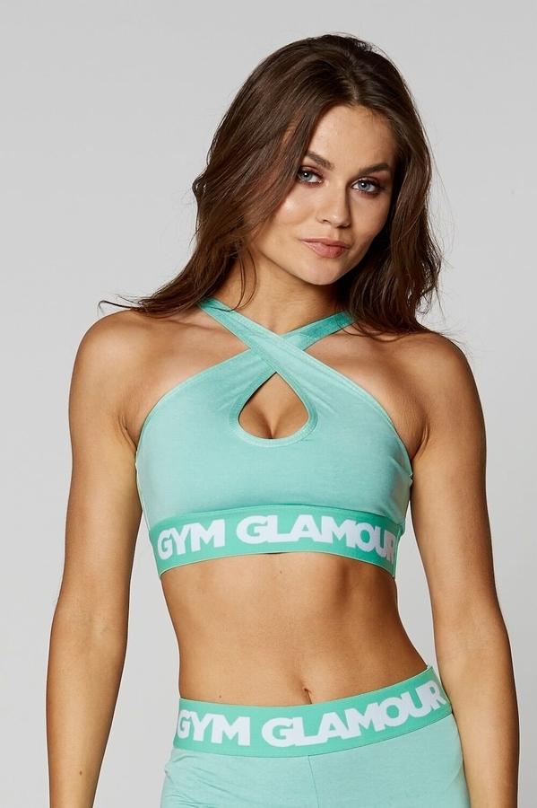 Gym Glamour Podprsenka Pistachio Basic - S, S - 3