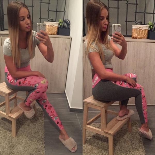 Gym Glamour Leggings 50/50 Pink Lady, XS - 3