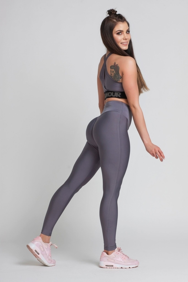 Gym Glamour Legíny High Waist Granite - M, M - 3