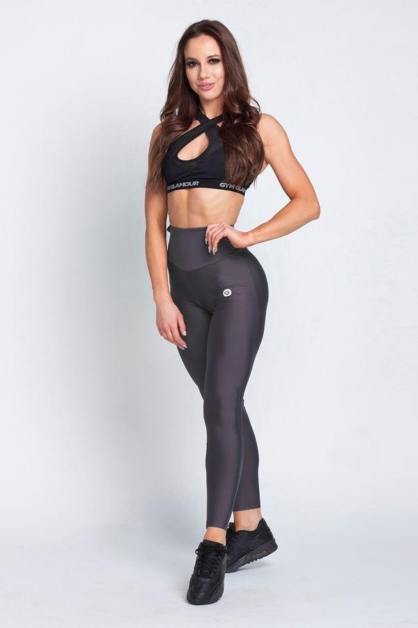 Gym Glamour Legíny High Waist Dark Grey - L, L - 3