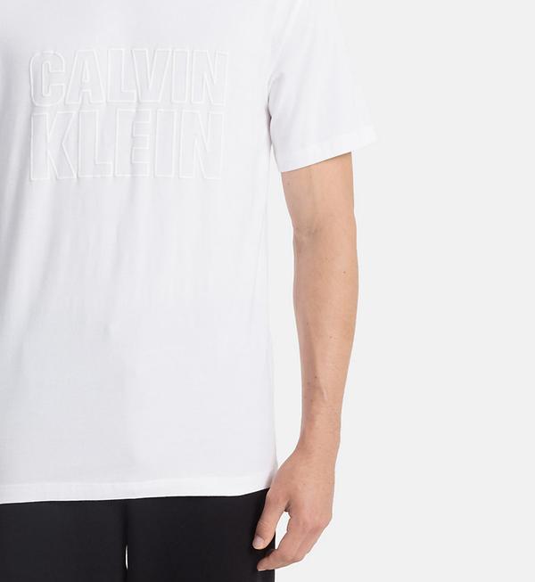 Calvin Klein Pánské Tričko S Nápisem Bílé - S, S - 3
