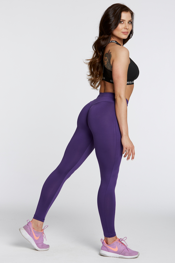 Gym Glamour Leggings High Waist Violet, M - 3