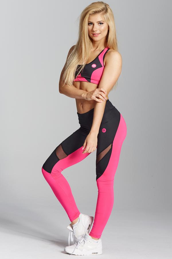 Gym Glamour Legíny Pink Fluo - XS, XS - 3