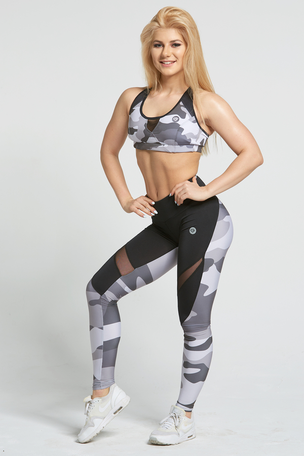 Gym Glamour Legíny Grey Moro - L, L - 3