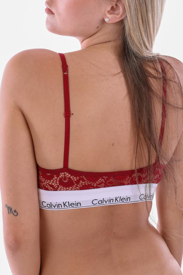Calvin Klein Podprsenka Unlined Red - 3
