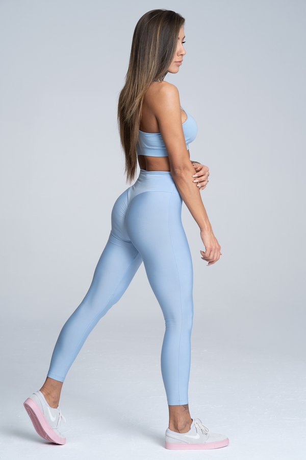 Gym Glamour Legíny High Waist Dream Blue - M, M - 3