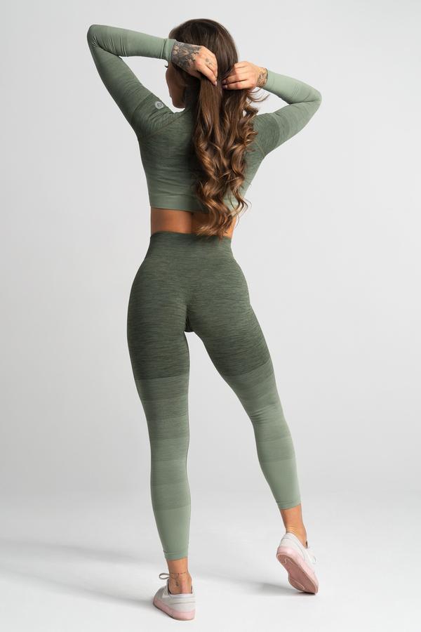 Gym Glamour Leggings Seamless Khaki Ombre - 3