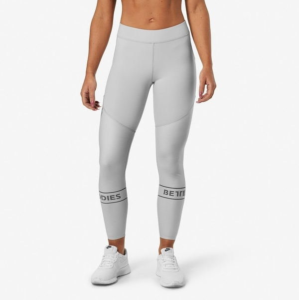 Better Bodies Legíny Chrystie Shiny Frost Grey - M, M - 3