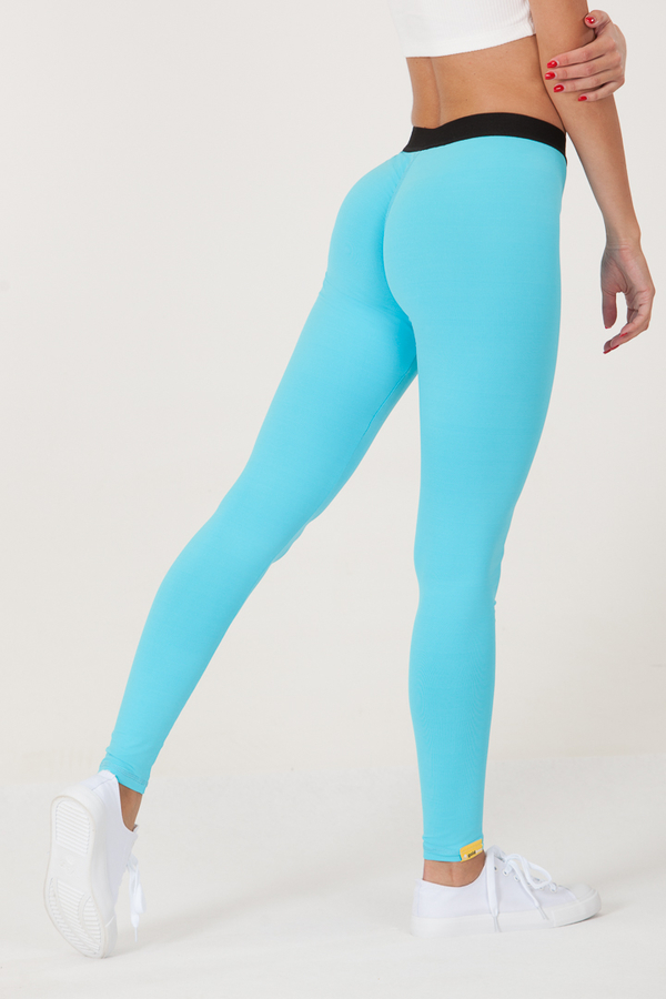 GoldBee Legíny BeOne Turquoise - L, L - 3