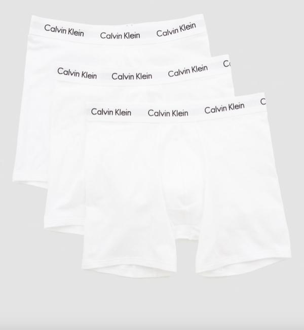 Calvin Klein 3Pack Boxerky Dlouhé Bílé - M, M - 3