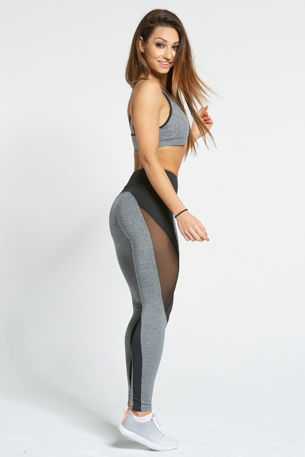 Gym Glamour Legíny Sexy Black And Grey - L, L - 4