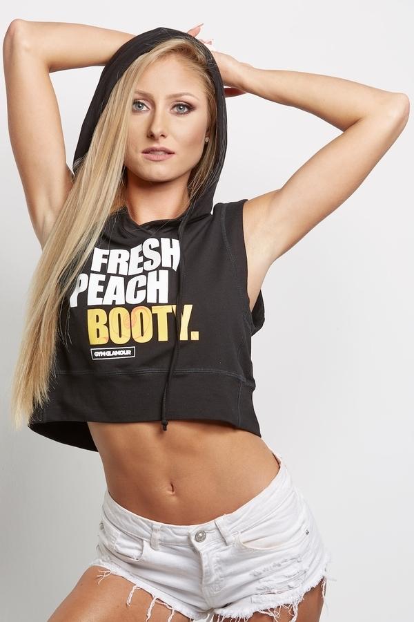 """Gym Glamour Mikina """" Fresh Peach Booty"""" Černá - XS, XS - 4"""