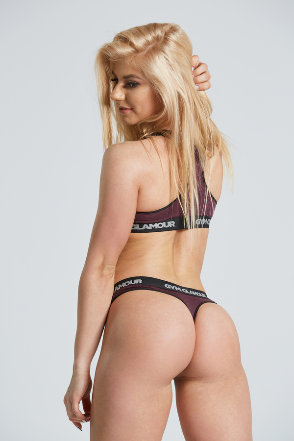 Gym Glamor Set Underwear Burgundy - 4