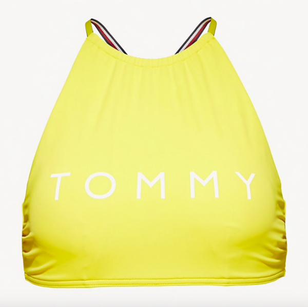 Tommy Hilfiger Plavky Logo Cropped Žluté Vrchní Díl - 4