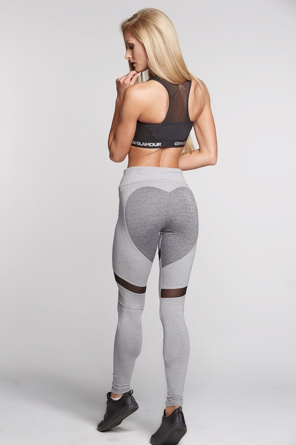 Gym Glamour Legíny Mixed Grey Heart - M, M - 4