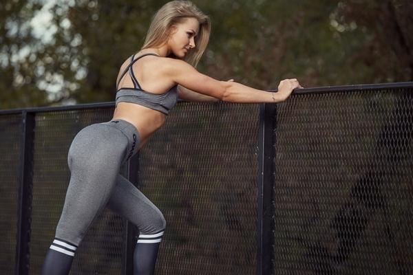 Gym Glamour Leggings Grey & Black Socks - 4
