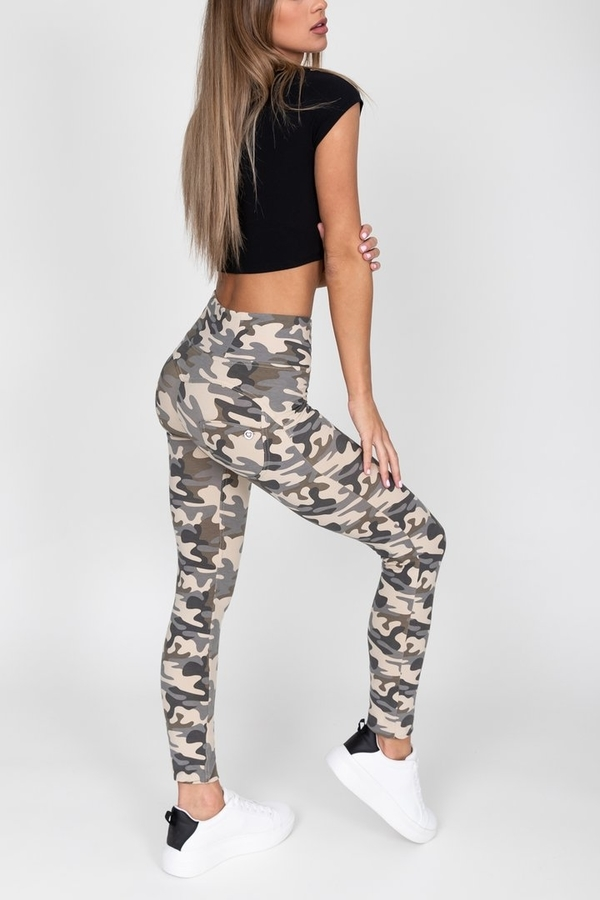 Hugz Camo Light High Waist Jegging - L, L - 4