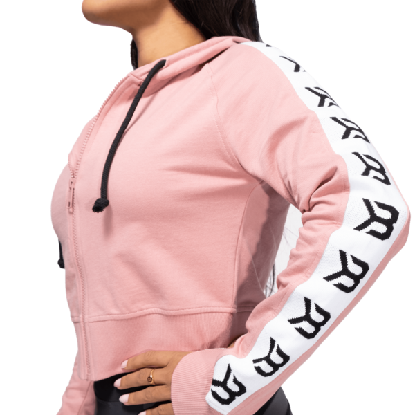 Better Bodies Cropped Hood Vesey Heather Pink - 4