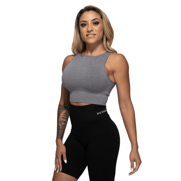 Better Bodies Top Rib Seamless Grey Melange - S, S - 4