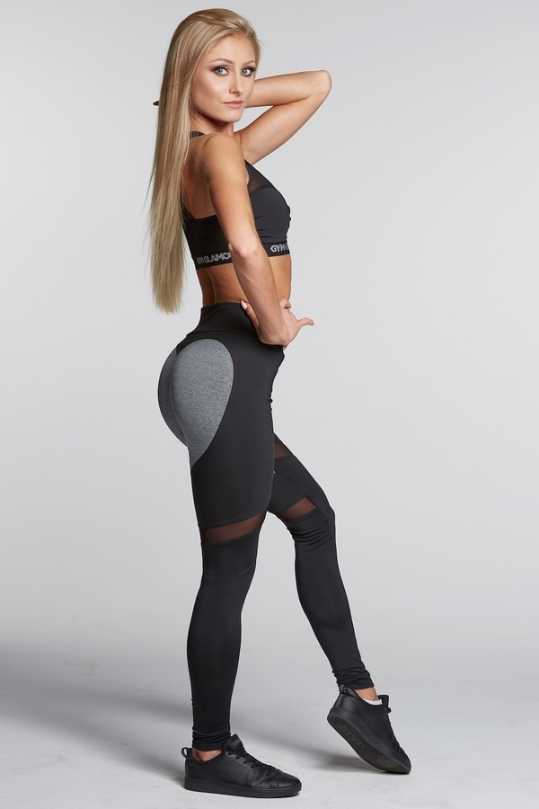 Gym Glamour Legíny Black And Grey Heart - S, S - 4
