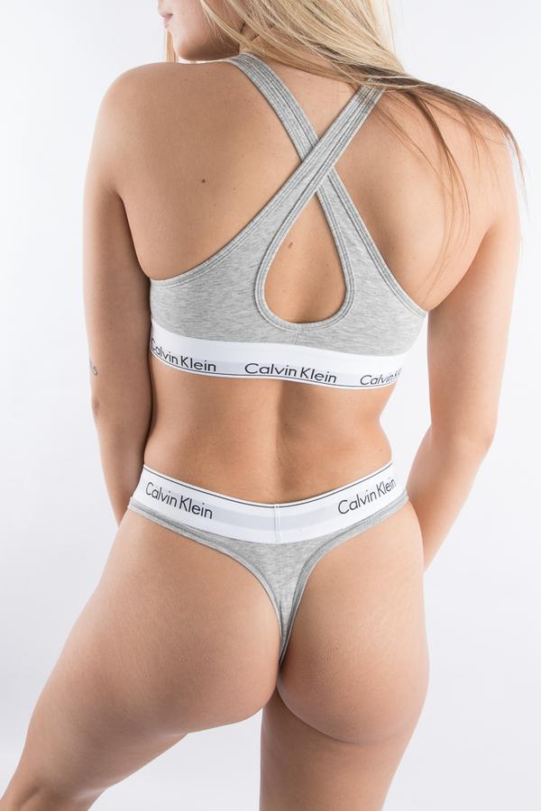 Calvin Klein Podprsenka Bralette Lift Grey - M, M - 4