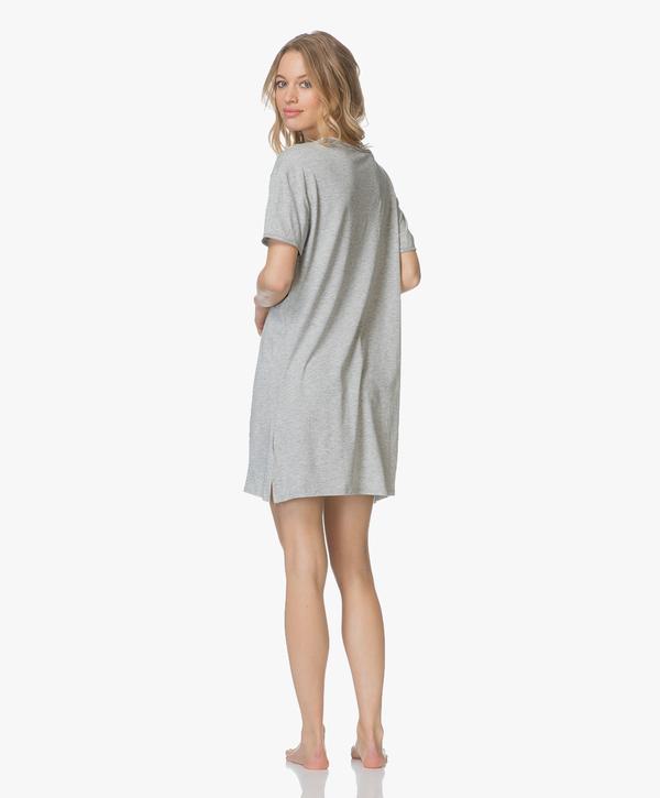 Calvin Klein Dámská Noční Basic Košilka Šedá - L, L - 4