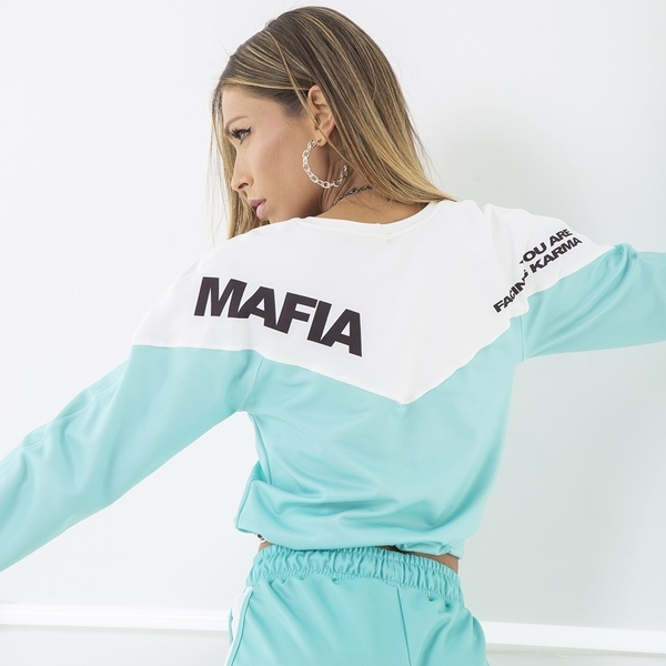 Labella Mikina Turquoise/White - M, M - 4
