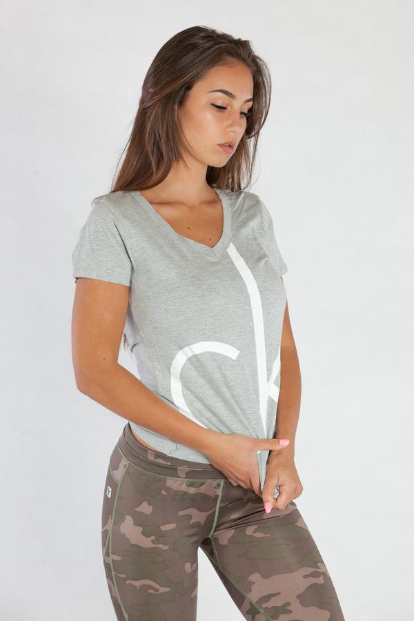 Calvin Klein Dámské Tričko Šedé CK - L, L - 4