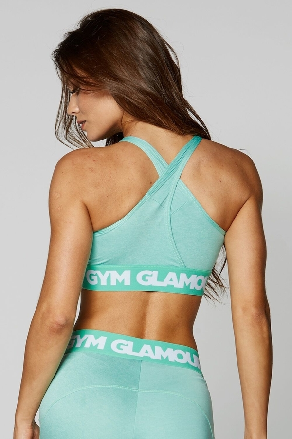 Gym Glamour Podprsenka Pistachio Basic - S, S - 4