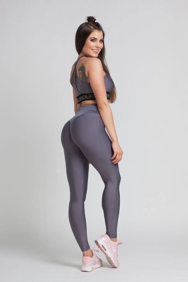 Gym Glamour Legíny High Waist Granite - M, M - 4