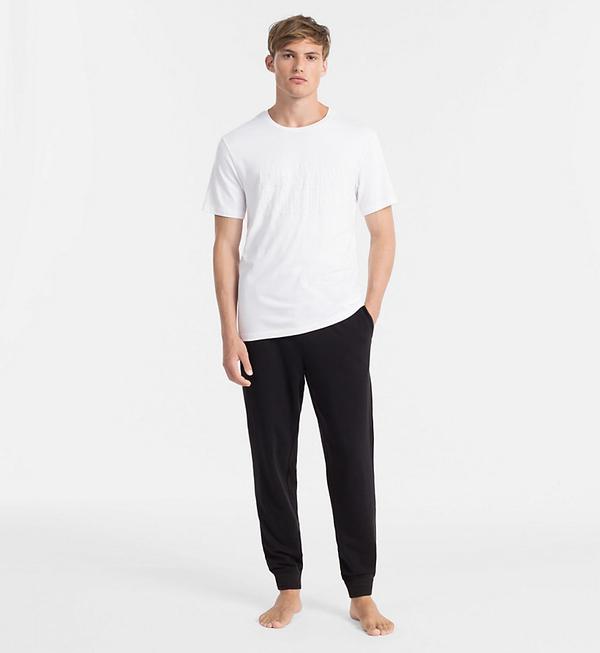 Calvin Klein Pánské Tričko S Nápisem Bílé - S, S - 4