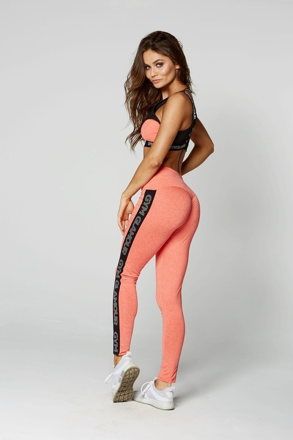 Gym Glamour Legíny High Waist Orange - L, L - 4