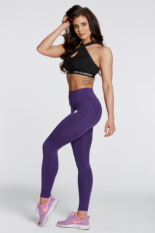 Gym Glamour Leggings High Waist Violet, M - 4