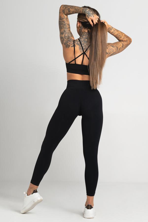 Gym Glamour Legíny Bezešvé Second Skin Black, M - 4