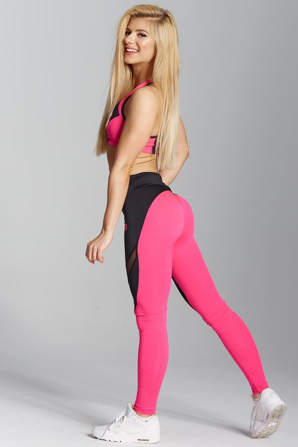 Gym Glamour Legíny Pink Fluo - XS, XS - 4