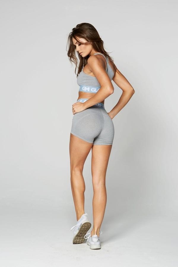 Gym Glamour Shorts Grey, XS - 4