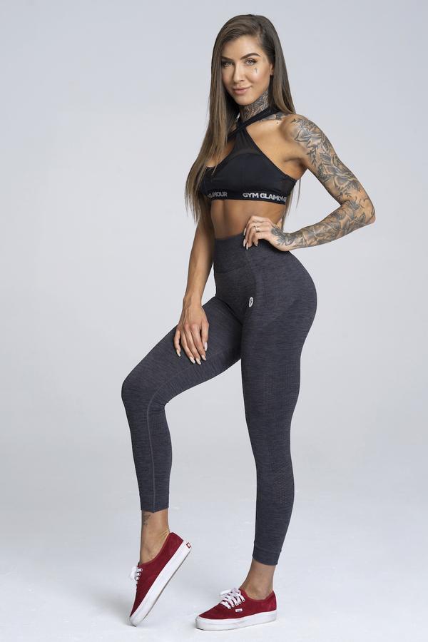 Gym Glamour Legíny Bezešvé Grey Melange - S, S - 4