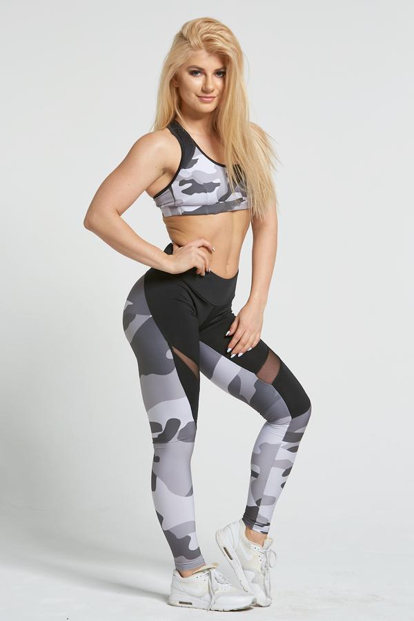 Gym Glamour Legíny Grey Moro - L, L - 4