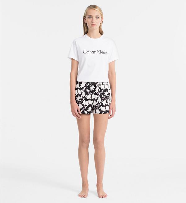 Calvin Klein Logo Dámské Tričko Bílé - L, L - 4