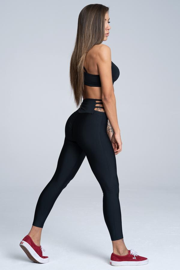 Gym Glamour Leggings String Waist Black - 4