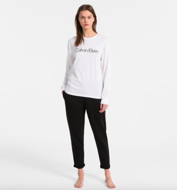 Calvin Klein Tričko Logo White - 4