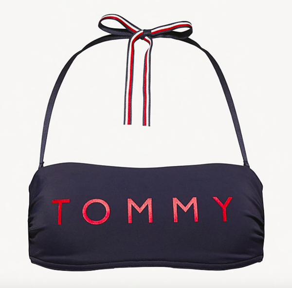 Tommy Hilfiger Plavky Essential Bandeau Navy Vrchní Díl - M, M - 4