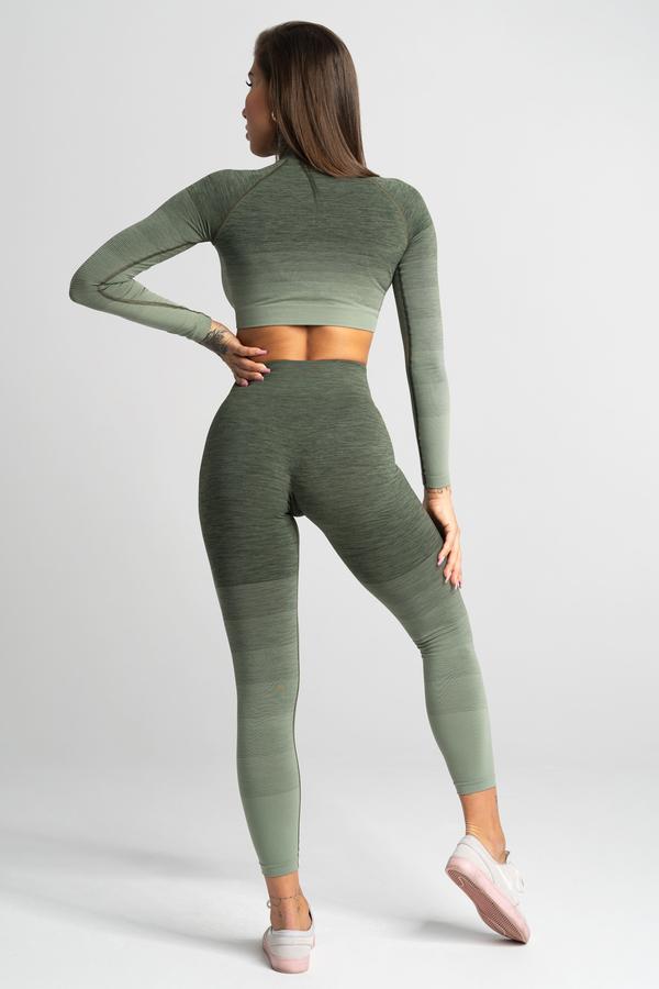Gym Glamour Leggings Seamless Khaki Ombre - 4