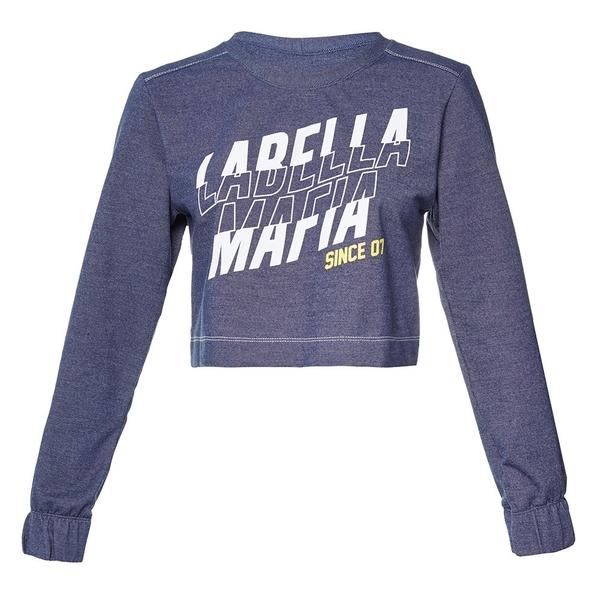 Labella Crop-Top Mikina Dark Blue - 4