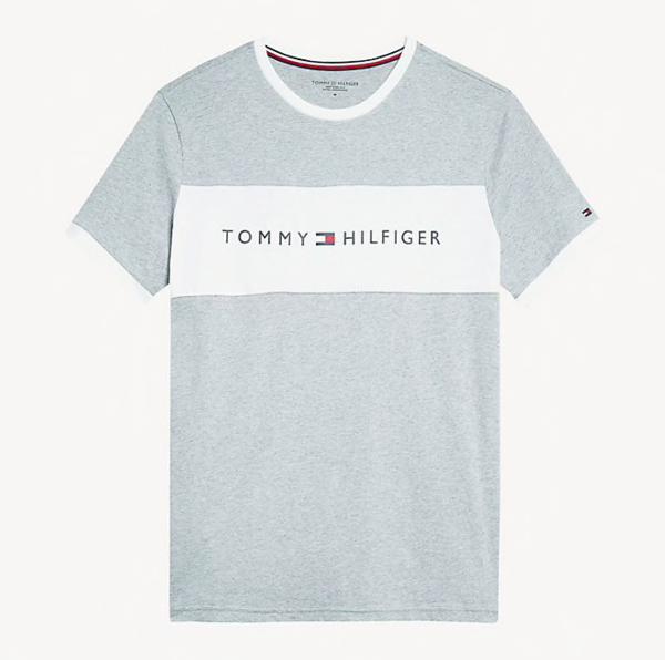 Tommy Hilfiger Tričko Flag Logo Šedé - S, S - 4