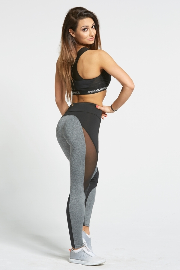 Gym Glamour Legíny Sexy Black And Grey - L, L - 5