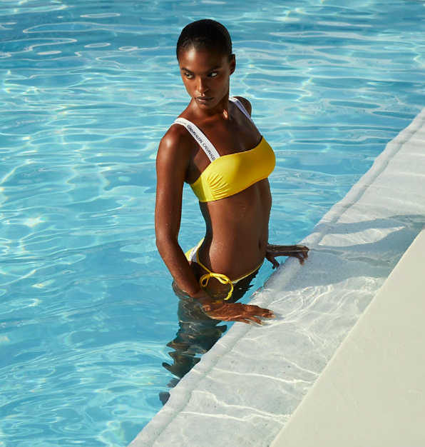 Calvin Klein Plavky CK Logo Yellow Spodní Díl - L, L - 5