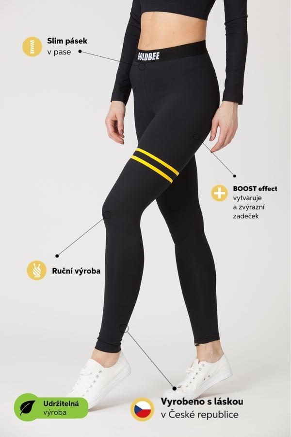 GoldBee Leggings BeStripe Up Black&Yellow - 5