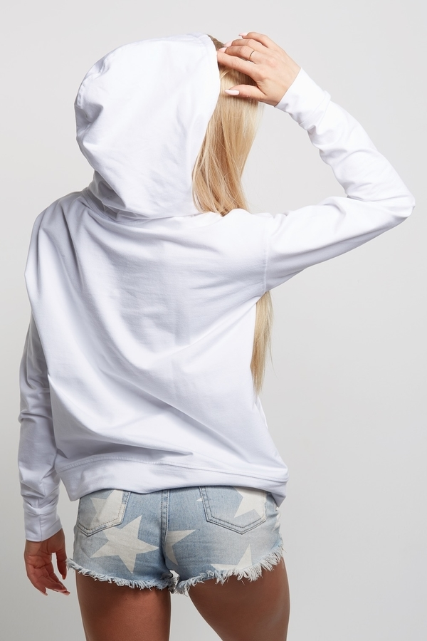 """Gym Glamour Hoodie """"Ass To Grass"""" White  - 5"""