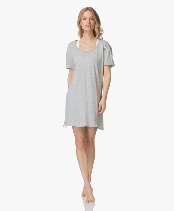 Calvin Klein Dámská Noční Basic Košilka Šedá - L, L - 5